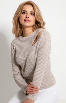 *Sweterkowa bluzka z rozcięciem F920