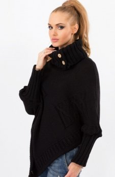 Makadamia S09 sweter czarny