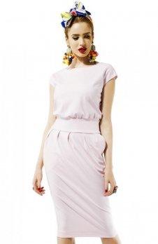 Kasia Miciak design mono sukienka pudrowa