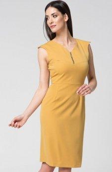 Mosali M024 sukienka musztardowa