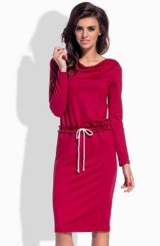 Lemoniade L150 sukienka bordowa