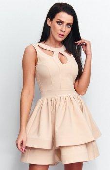 Roco R-198 sukienka beżowa