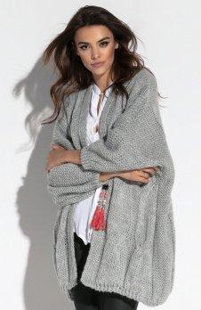 Fobya F569 sweter szary