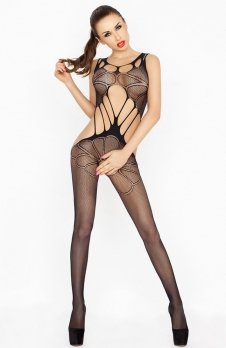 Passion BS030 bodystocking czarny