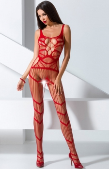 Pikantne bodystocking red BS058