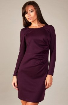 Vera Fashion Sophie sukienka śliwka