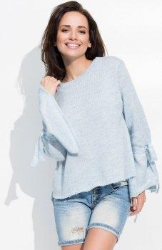 *Sweter z ozdobnymi rękawami S12 Numinou