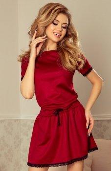 Numoco 199-2 Lisa sukienka bordowa