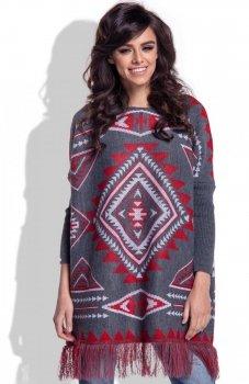 Fobya F349 sweter czerwony