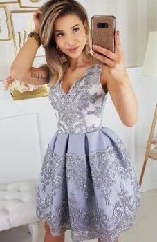 Bicotone 2136-03 sukienka szara