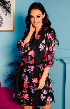 Kopertowa sukienka w kwiaty L301
