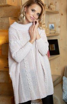 Fobya F618 sweter pudrowy róż