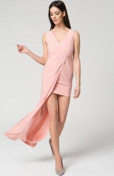 Mosali M040 sukienka pudrowy róż
