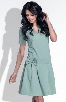 *Fobya F374 sukienka oliwkowa