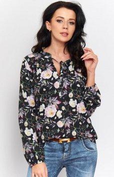 *Roco B046 bluzka czarna w kwiaty