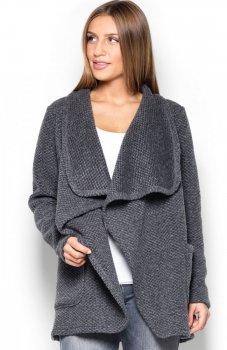 Katrus K408 sweter szary