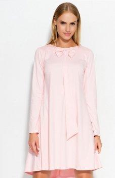 Makadamia M320 sukienka pudrowy róż