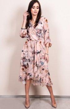 Zwiewna sukienka w kwiatowy print Roco 0243/D20