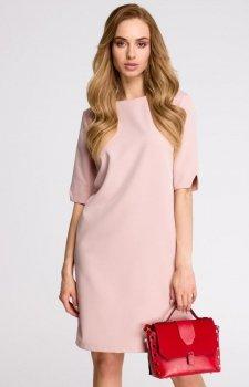 Style S113 sukienka pudrowy róż