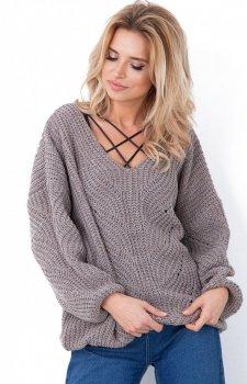 Fobya sweter oversize latte F641
