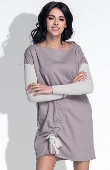 *Fobya F392 sukienka mocca