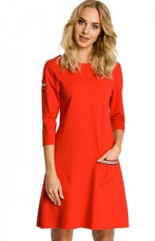 Moe M343 sukienka czerwona