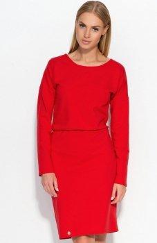 Makadamia M332 sukienka czerwona