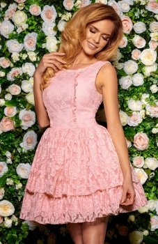 Bicotone 2140-12 sukienka różowa