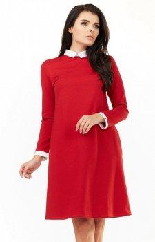 Awama A204 sukienka czerwona