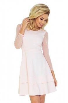 *Numoco 141-3 sukienka brzoskwinia