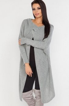 *Fobya F222 sweter szary
