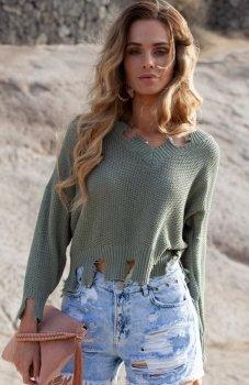 FIMFI I294 sweter oliwkowy
