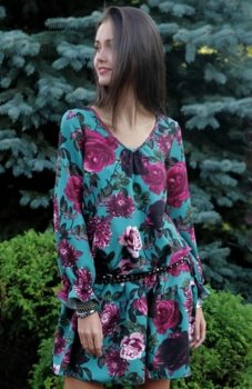 Roco 217 sukienka róże