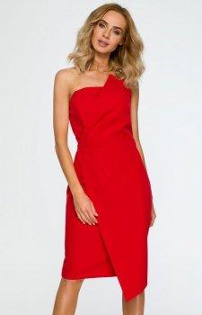 Moe M409 sukienka wieczorowa czerwona