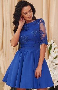 *Roco 0084 sukienka chabrowa