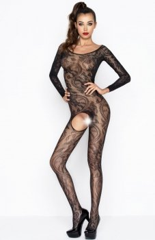 Passion BS042 bodystocking czarny
