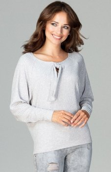 Lenitif K469 sweter szary