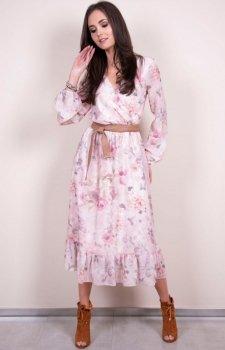 Sukienka boho w kwiaty 0241 Roco