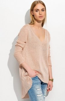 Makadamia S38 sweter beżowy