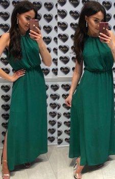 Elegancka sukienka rzymianka zielona