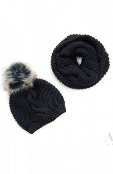 Art of Polo czapka i komin czarny