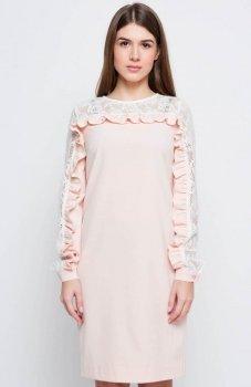 Cover GR2167 sukienka pudrowa