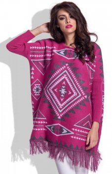 Fobya F349 sweter amarantowy