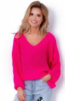 Fobya sweter oversize fuksja F641