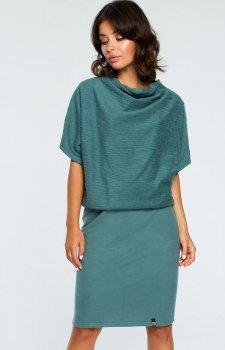 BE B097 sukienka zielona