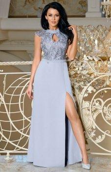 Bicotone 2168-03 sukienka szara
