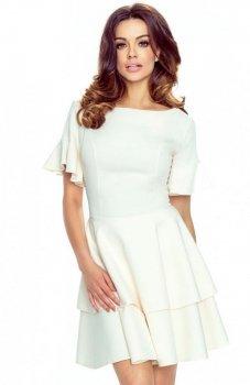 Bergamo 62-05 sukienka jasny beż