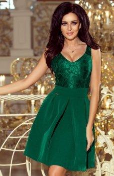 Numoco 208-4 sukienka butelkowa zieleń