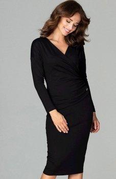 Lenitif K477 sukienka czarna