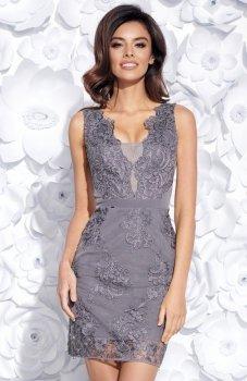 Bicotone 2163-14 sukienka grafitowa